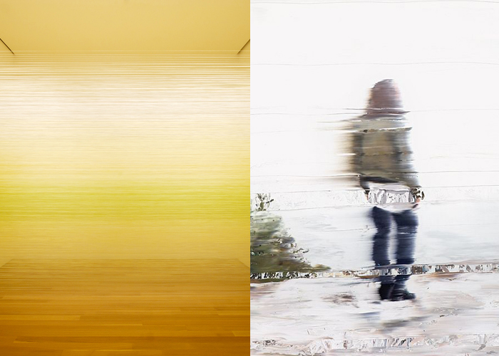 MINI MOOD BOARD: BLUR. Art techniques from Anne Lindberg & Andy Denzler