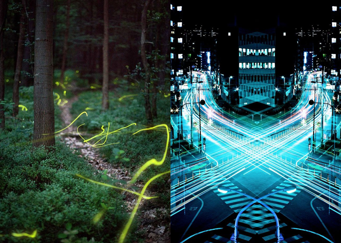 MINI MOOD BOARD: SPEED OF LIGHT. Illuminating photos by Kristian Cvecek and Sinichi Higashi
