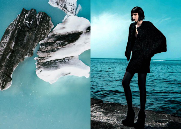 MINI MOOD BOARD: BLUE LAGOON. rugged beauty against a watery backdrop by photographers Gerco de Ruijter and George Katsanakis
