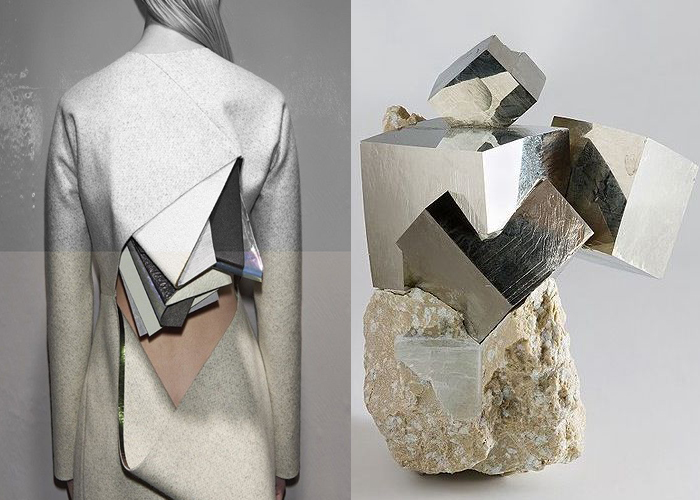 MINI MOOD BOARD: GEOLOGIC. Stéphanie Baechler's sculptural fashion inspired by rocks, crystals and minerals