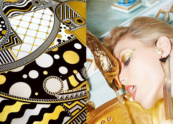MINI MOOD BOARD: MIDAS TOUCH. The gilded life of artist Lina Viktor and model Anja Rubik.