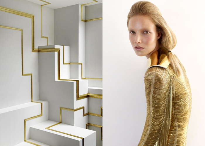MINI MOOD BOARD: GOLDEN SNAKE. Reptilian inspiration by Mathias Kiss and Alex Cayley.