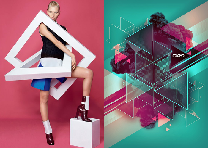 MINI MOOD BOARD: GEOMETRIC ASSEMBLY. Featuring photographer Christian Anwander and designer Tom Theys
