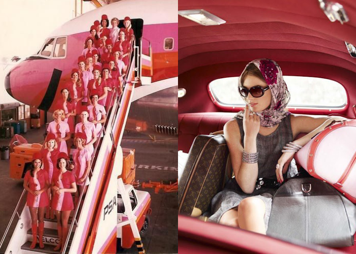 MINI MOOD BOARD: DEPARTURES. The art of travel with PSA pink ladies and Corrie Bond