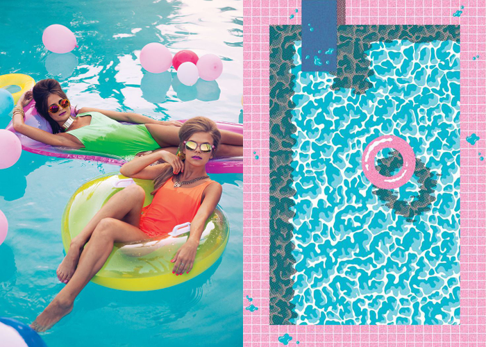 MINI MOOD BOARD: POOL PARTY. Break out the sunnies and an 80s vibe.