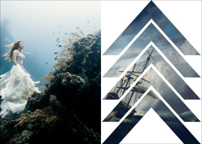 MINI MOOD BOARD: SHIPWRECK. Watery tales set about by photographer Benjamin Von Wong and designer James Kirkup
