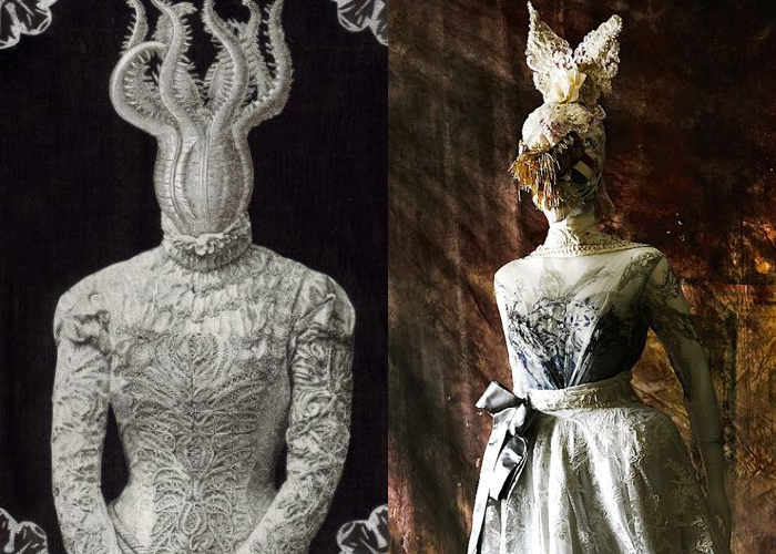 MINI MOOD BOARD: ANONYMOUS II. Michelle Lanter's collage and Ziad Ghanem cult couture