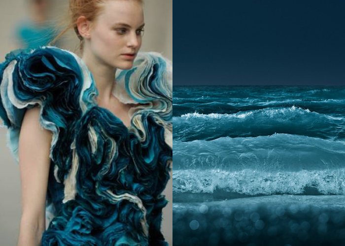 Mini Mood Board: Making Waves. fashion inspired by nature