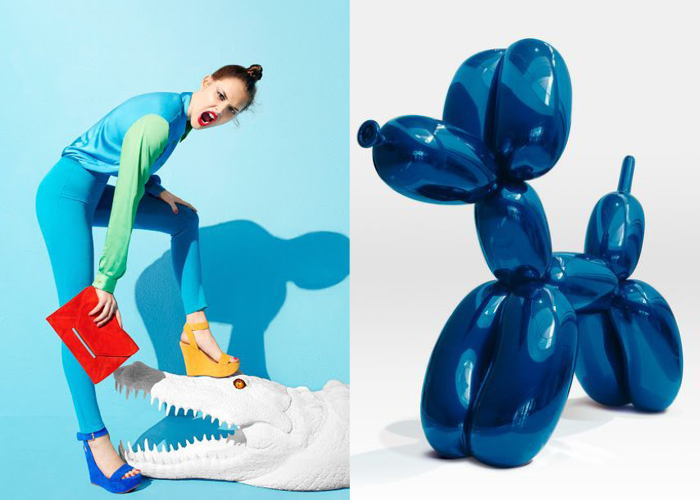 MINI MOOD BOARD: Inflatables. Elevated from mass market ads to Jeff Koons' high art