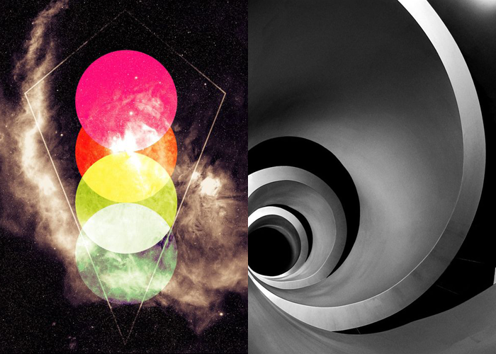 MINI MOOD BOARD: BLACK HOLE. Images via Justan Baca and Una Knipsolina