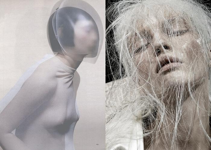 MINI MOOD BOARD: BEYOND THE PALE. Visions by designer Hussein Chalayan and photographer David Dunan #nancyherrmann