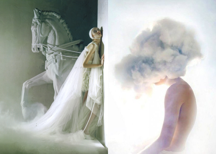 MINI MOOD BOARD: SLEEPWALKER. Featuring photos by Tim Walker and Alex Stoddard #nancyherrmann