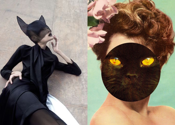 MINI MOOD BOARD: FELINE. Featuring fashion from Max Tan, collage by Zoe Austin.