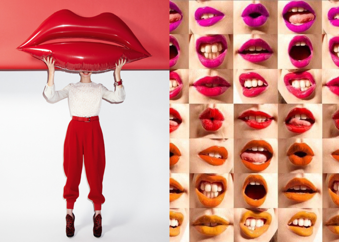MINI MOOD BOARD: LIP SERVICE. Featuring photos by Charlie Engman and Manolo Campion