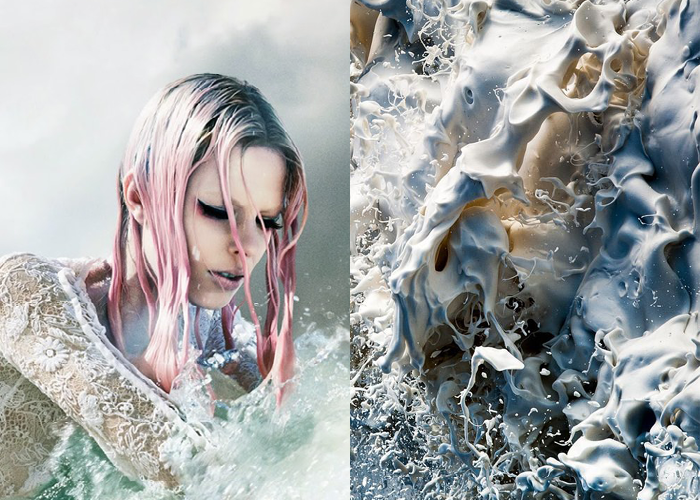 MINI MOOD BOARD: MERMAID. Featuring photos by Laurie Bartley and Ger Kelliher. #nancyherrmann