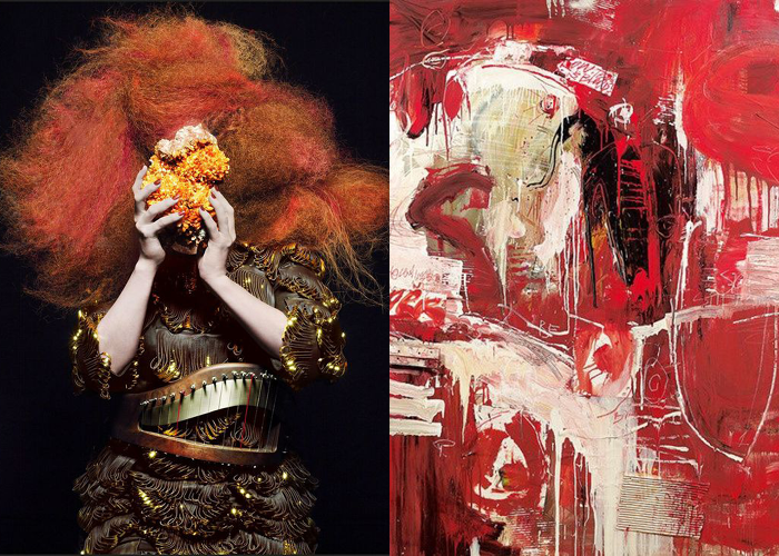 MINI MOOD BOARD: TITIAN. Featuring works by Inez Van Lamsweerde + Vinoodh Matadin and Franco Kappl. #nancyherrmann