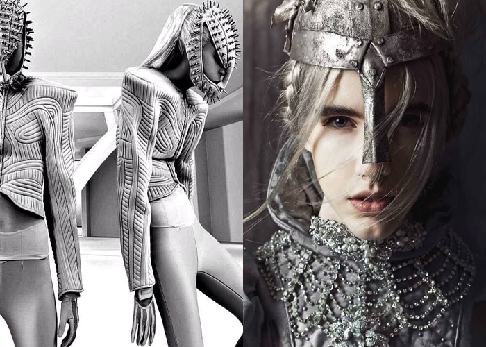 MINI MOOD BOARD: ARMOR ALL. Featuring fashion by Elena Slivnyak with photo by Nyree Mackenzie. #nancyherrmann