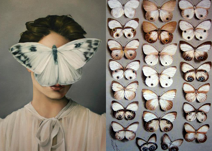 MINI MOOD BOARD: WINGS. Art by Amy Judd and Marian Ellis Rowan. #nancyherrmann