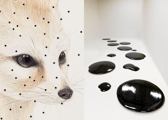 MINI MOOD BOARD: SPOTTED. Art by Ai Weiwei and Marcela Cardenas #nancyherrmann #moodboard