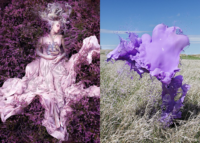 MINI MOOD BOARD: SPLASH. Photos by Kirsty Mitchell and Floto+Warner Studio #nancyherrmann #moodboard