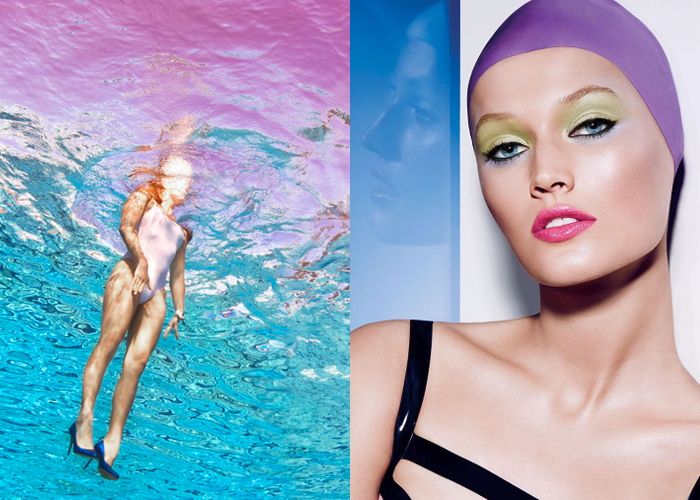 MINI MOOD BOARD: CHLORINE. Photos by Jill Greenberg and François Nars #nancyherrmann #moodboard