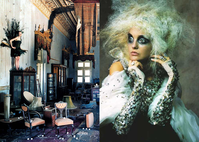 MINI MOOD BOARD: BEAUTIFUL MESS created with @melaniebiehle. Photos by Tim Walker and Rattina #nancyherrmann #moodboard
