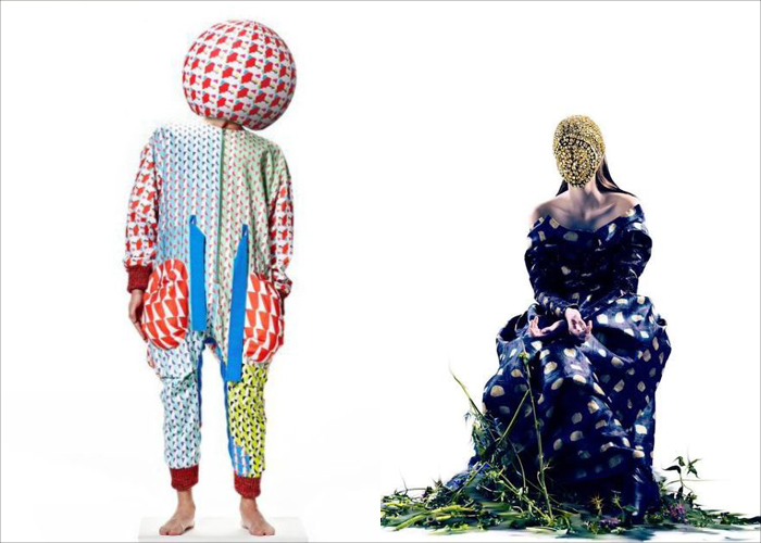 MINI MOOD BOARD: MASQUERADE. Fashion design by Maxxi Jae-Hyung Lee with photo by Pierre Debusschere