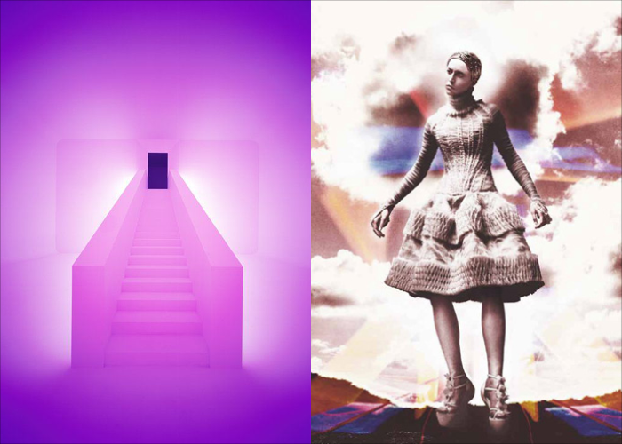 MINI MOOD BOARD: ASCENDANT. Installation art by James Turrell with Alexander McQueen photo by David Sims. #nancyherrmann #moodboard
