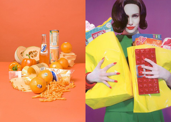 MINI MOOD BOARD: HARVEST. Photos by Stephanie Gonot and Miles Aldridge. #nancyherrmann #moodboard #sherbet