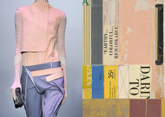 MINI MOOD BOARD: CUT AND PASTE. Fashion by Nicolas Ghesquière for Balenciaga with collage by Melinda Tidwell. #nancyherrmann #moodboard #cutandpaste #collage