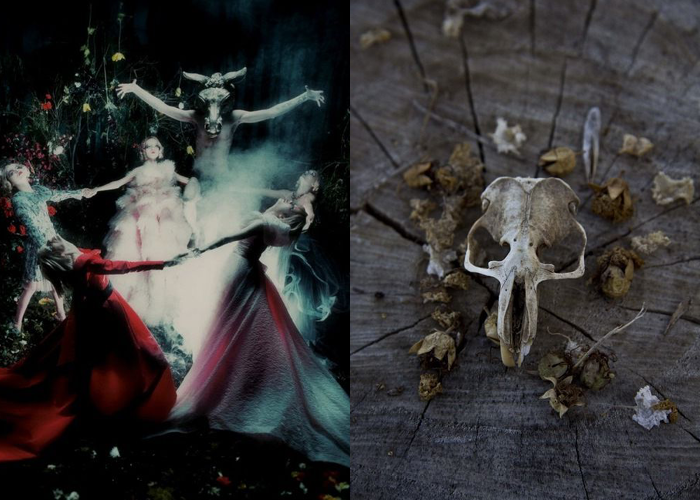 MINI MOOD BOARD: RITUALS. Photo by Steven Meisel with animal skull shrine. #nancyherrmann #moodboard #rituals