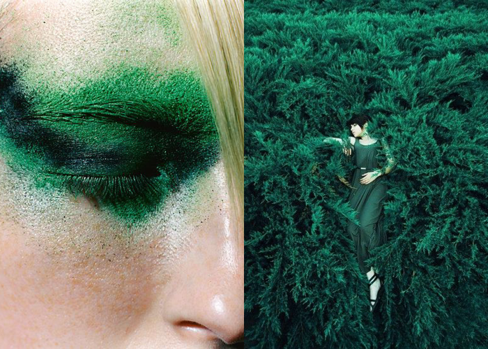 MINI MOOD BOARD: EVERGREEN. Photos by Christian Kettiger and Pandora Selezneva. #nancyherrmann #moodboard #evergreen