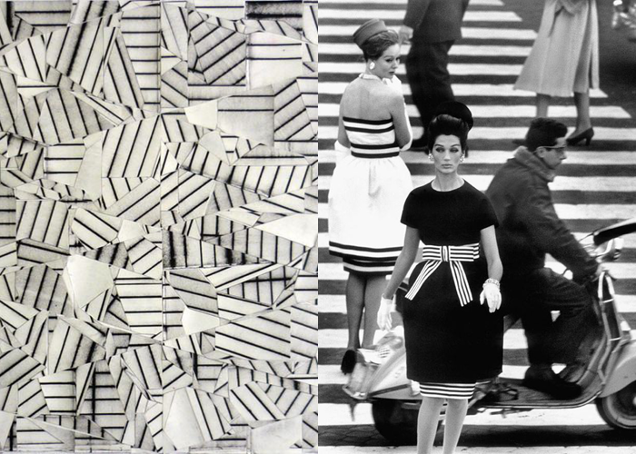MINI MOOD BOARD: BARRED. Art by Devin Powers with photo by William Klein. #nancyherrmann #moodboard #barred