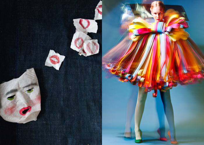 MINI MOOD BOARD: FESTIVUS. Pairing made with @melaniebiehle. Photo by Alpha Smoot with paper dress by Janar Juhkov #nancyherrmann #moodboard #festivus