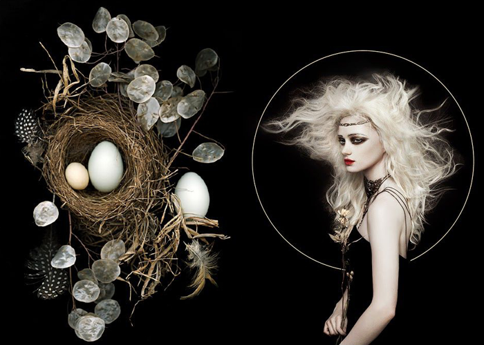 MINI MOOD BOARD: SOURCE. Photos by Ellen Hoverkamp and Zhang Jingna. #nancyherrmann #moodboard #source
