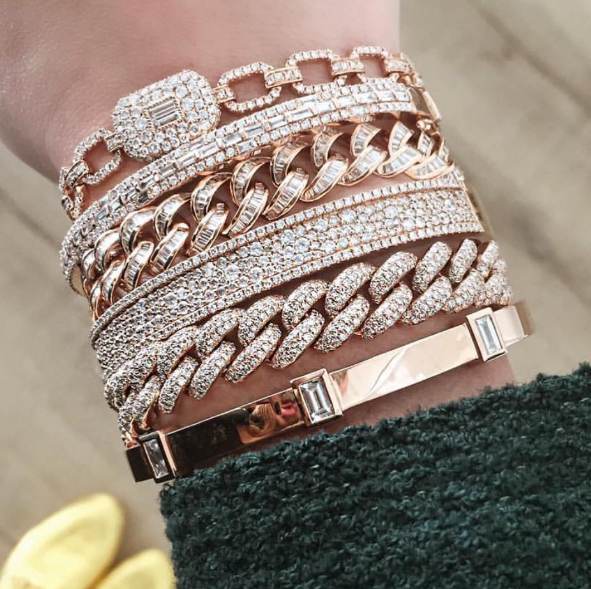Shay - Essential Pave Baguette Square Link Bracelet Shay - Mixed Diamond Bangle Shay - Baguette Essential Link Bracelet Shay - Pave Diamond Nameplate Bracelet Shay - Essential Link Bracelet Shay - Triple Bezel Baguette Diamond Bangle