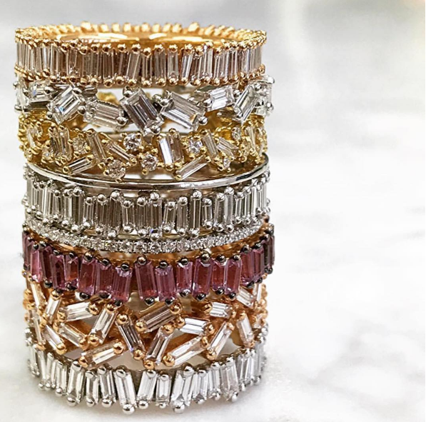Suzanne Kalan - Eternity Baguette Band Suzanne Kalan - Fireworks Scatter Eternity Band