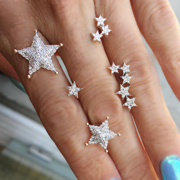 Kismet - Large Sheriff Star Stud Kismet - White Diamond Star Stud Kismet - Medium Sheriff Star Stud Kismet - Three Star Stud Kismet - Five Star Stud