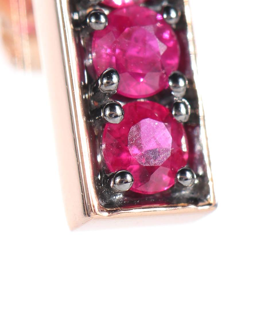 Jemma Wynne 18kt rose gold and ruby earrings lM3Igb