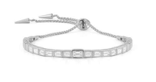 bracelet image diamond baguette gold shape white round oval cut