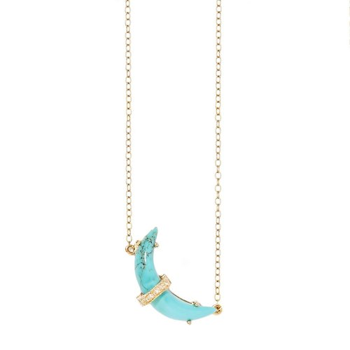 Turquoise and diamond moon necklace jaimie geller jewelry turquoise and diamond moon necklace aloadofball Image collections