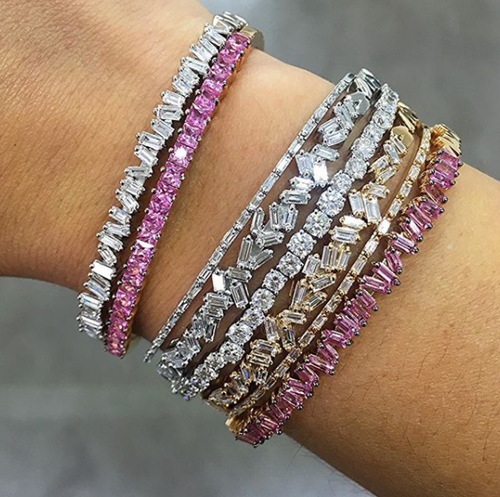 bangle diamond baguette bracelet bangles