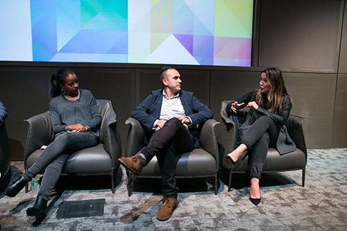 Emily Anadu, Paul Parreira, Sanja Partalo at 4A's Createtech 2015