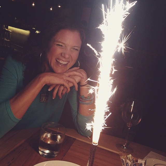 Well maybe it wasn't technically her birthday, but it is almost New Years, right? #latergram #girlsnight