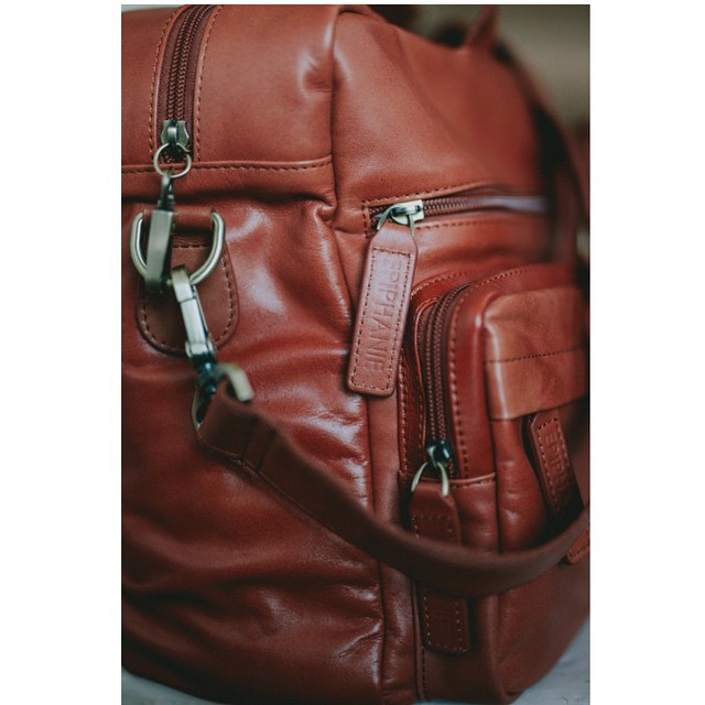 It always makes my day to see the photos that you guys take of your bags. This one is of the Hudson in cognac by Meghann Prouse. Check out her beautiful work at www.photomegs.com (thank you Meghann!)