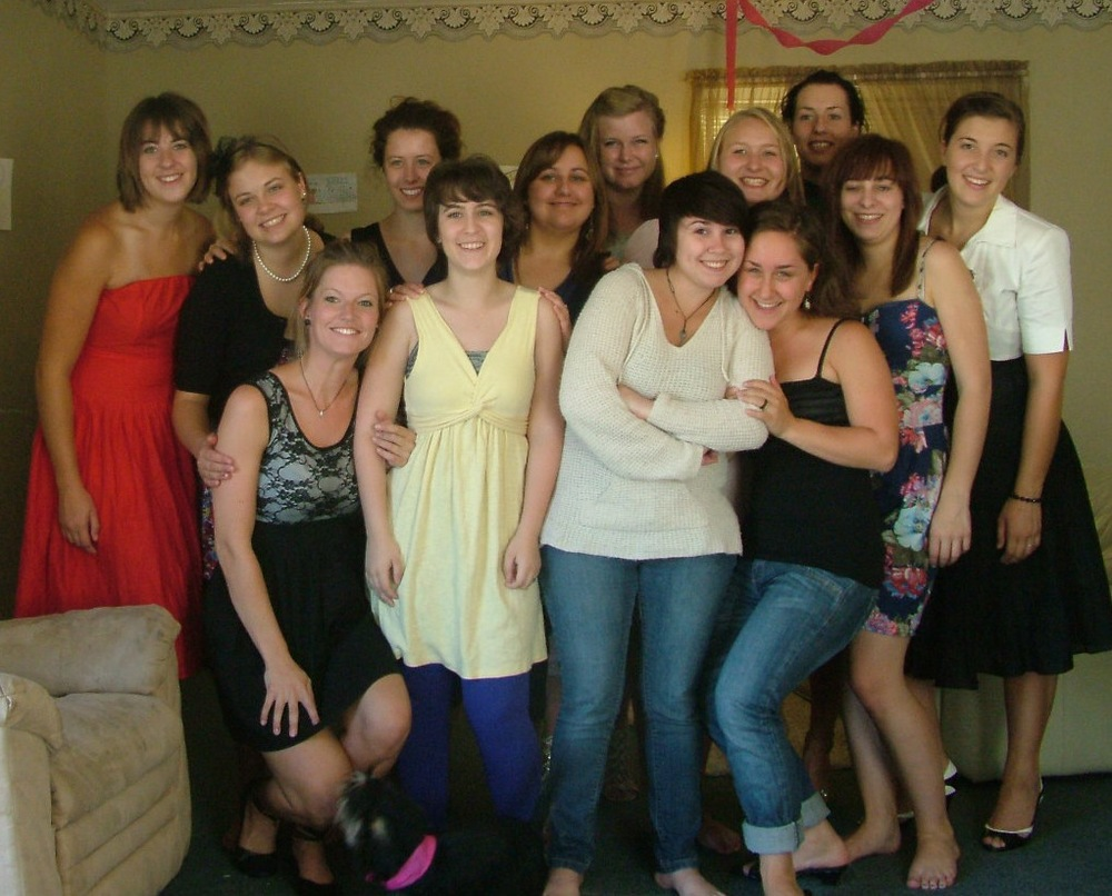Some of the girls from the 2010-2011 rental period. (I'm wearing the white jumper and jeans in the front.)