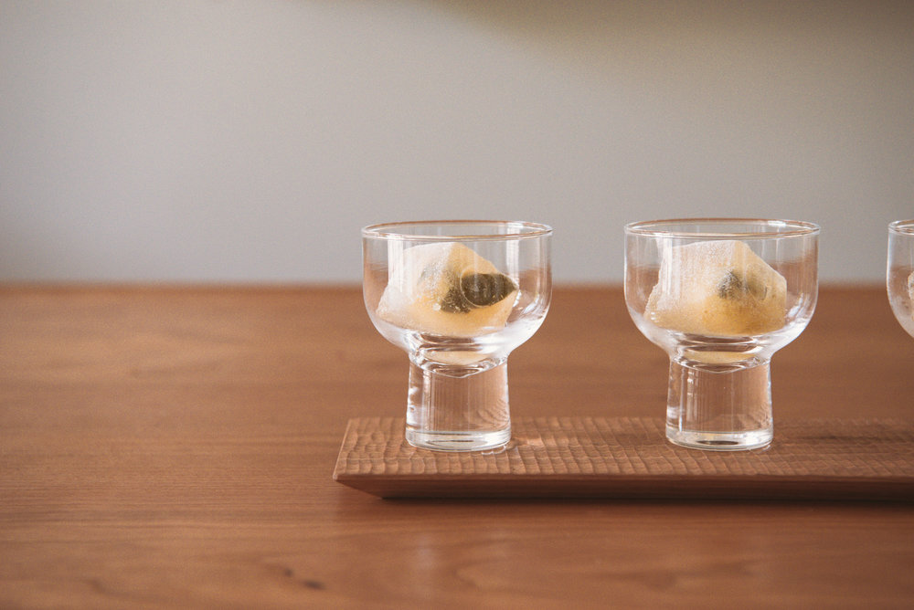 Bao Zhong is wet brewed and then served over ice as a refreshing cold oolong.