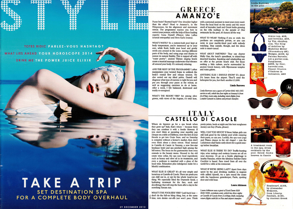 """It's seriously relaxing ."" SUNDAY TIMES STYLE MAGAZINE"