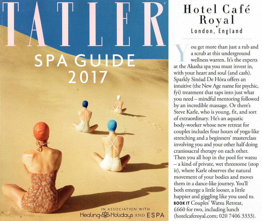 """…or there's Steve Karle, who is young, fit, and sort of extraordinary."" TATLER / JUNE 2017"