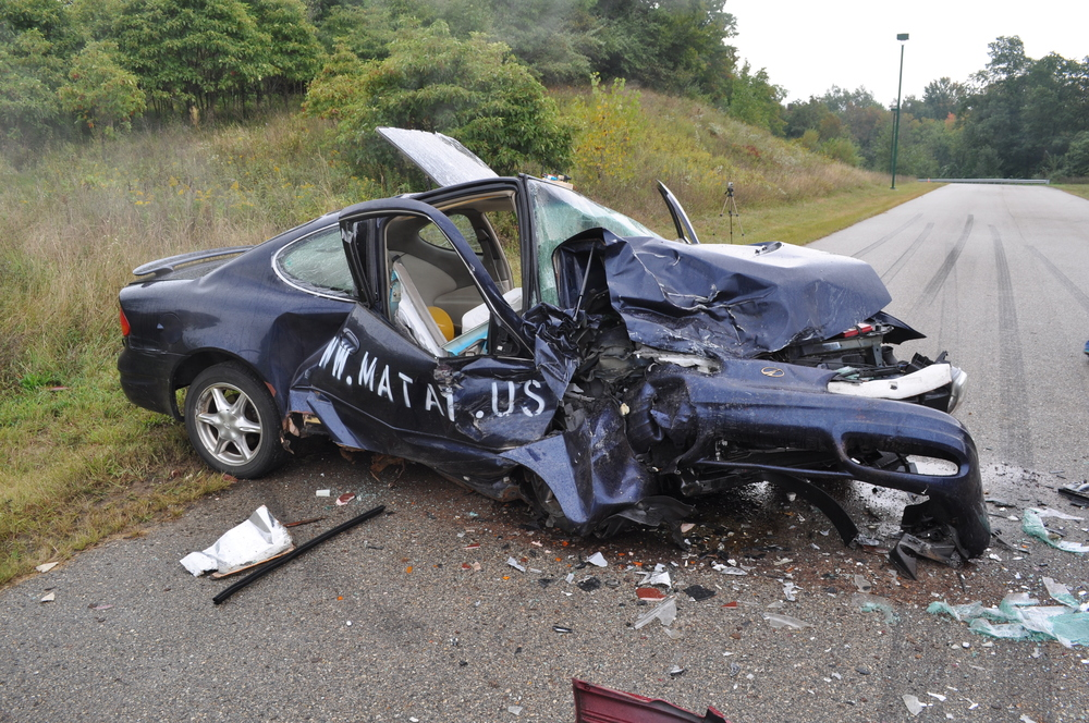 MATAI 2013 Fall Crash Conference: Offset head-on crash with a 90 MPH closing speed.